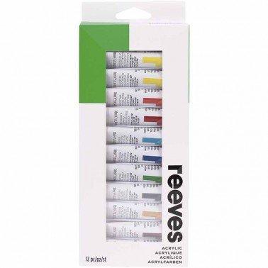 Reeves surtido acrílico 12 tubos de 10ml.