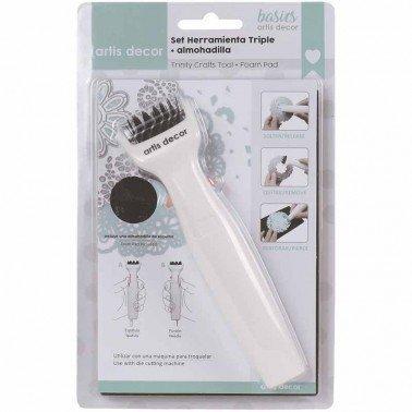 Set cepillo y alfombrilla para quitar exceso de papel de los troqueles ARTIS DECOR