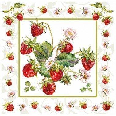 Servilletas para decoupage Fresh Strawberries 33 X 33 cm.