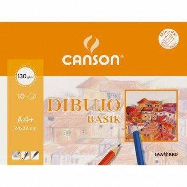 Mini Pack dibujo basik A4, 21X29.7 (10Hojas) 130gr. DB CANSON