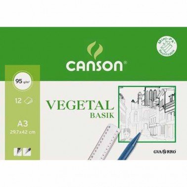 Minipack papel vegetal 29.7X42 (12 hojas) 90gr.CANSON