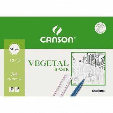 Minipack papel vegetal 21X29,7 (12 hojas) 90gr.CANSON