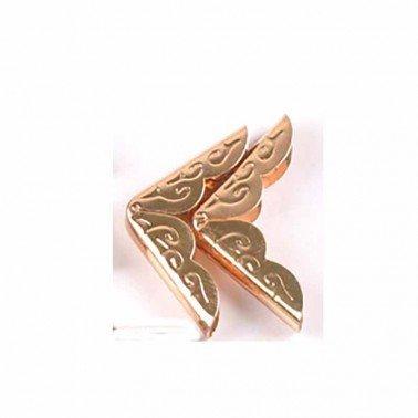 Cantonera Oro rosa 20X20 mm. 1 unidad