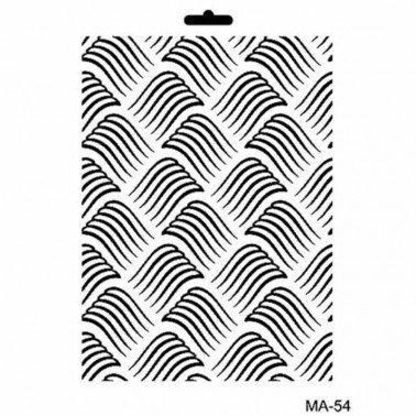 Stencil mix media MA54 TEXTURA 21 x 30 cm.