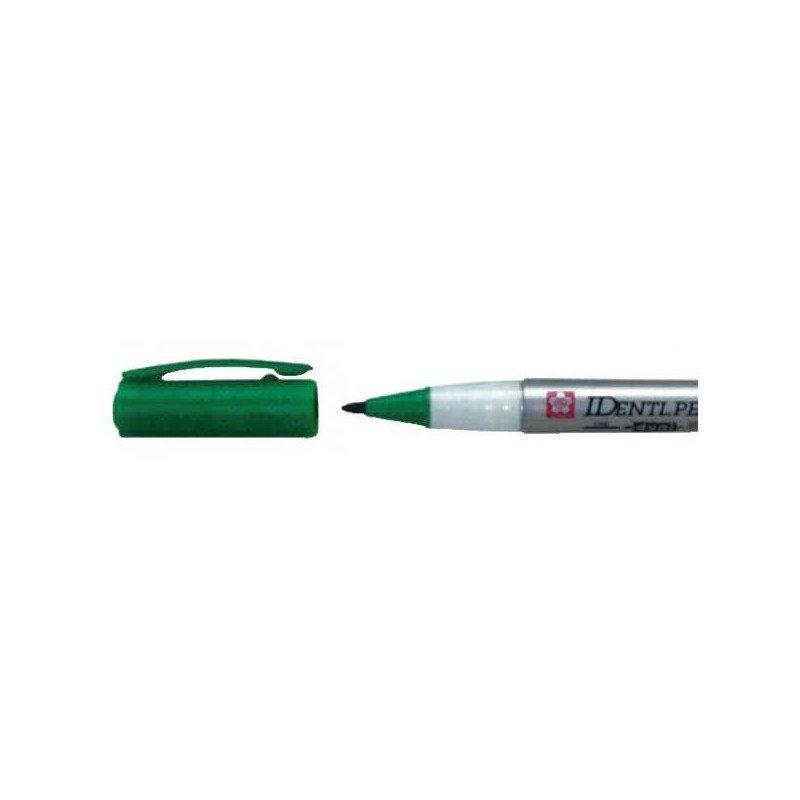 Rotulador IDENTI-PEN marca Sakura verde.