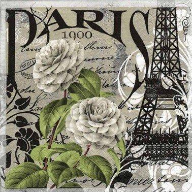 Servilletas para decoupage PARIS 1900 33 X 33 cm.
