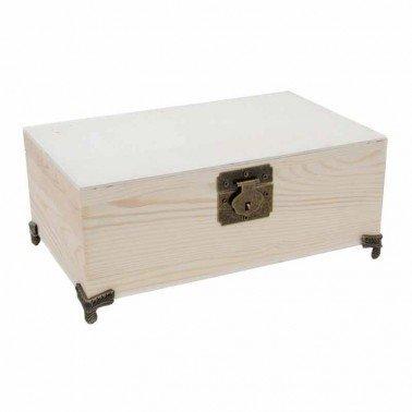Caja de madera Joyero con Espejo 25x15x9.5cm
