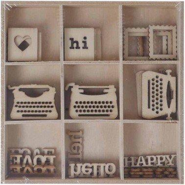 Set maderitas ESCRITURA 45 piezas, ARTIS DECOR.