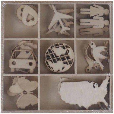 Set maderitas VIAJE 40 piezas, ARTIS DECOR.