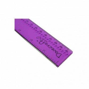 Regla con borde metálico 30cm. Dovecraft.