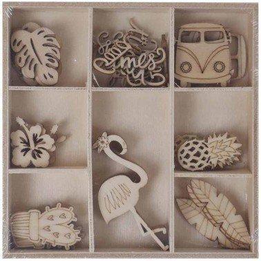 Set maderitas TROPICAL 40 piezas, ARTIS DECOR.