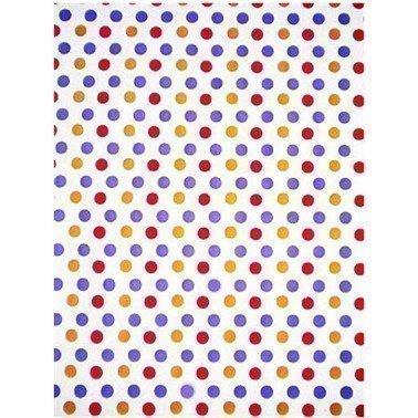 PAPEL NATURAL NEPAL TOPOS LILAS, MARRONES 38X56 cm
