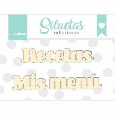 Chipboard palabras Menú - Mis Recetas.