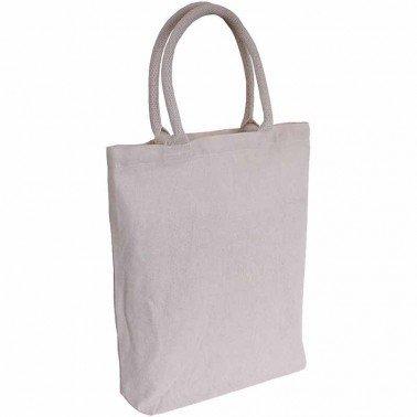 Bolsa algodón con asas acolchadas Crudo 40 x 36 cm ..