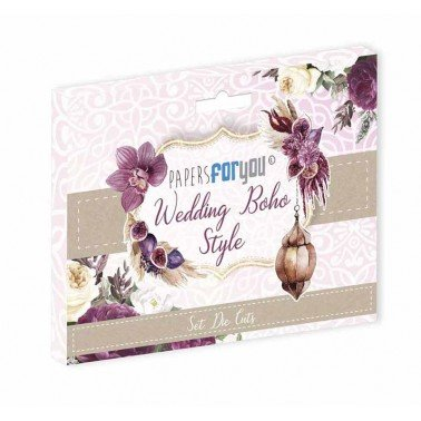 DIE CUTS BOHO WEDDING STYLE 65 piezas PAPERS FOR YOU