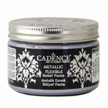 Pasta Flexible Metálica SILVER 150ml Cadence