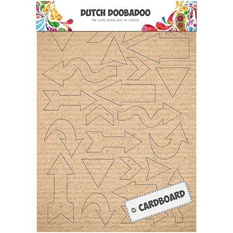 Siluetas troqueladas Flechas DUTCH DOOBADOO, cartón kraft A5.