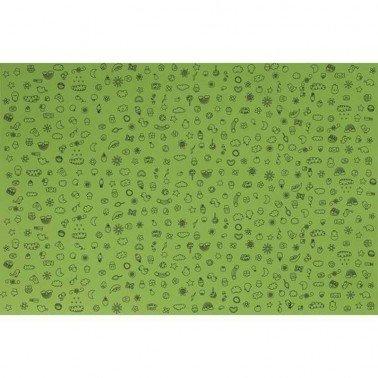 Goma Eva decorada Infantil 1 verde   60 x 40 cm, grosor 2 mm.