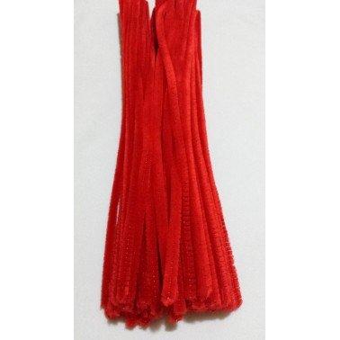 Limpiapipas - Chenilla rojo.