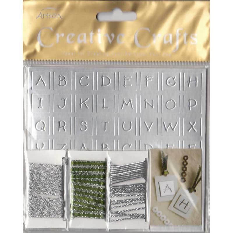 Set etiquetas y letras color Plata.