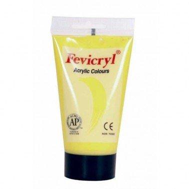 Pintura Fevicryl acrílico Amarillo limón cadmio 75 ml.