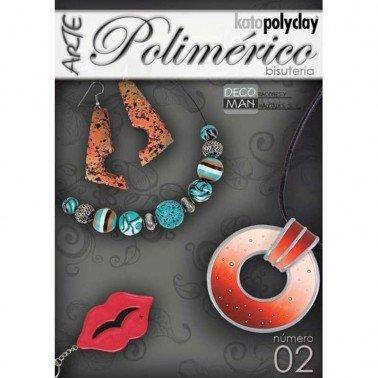 Revista manualidades arte Polimérico nº 2 especial bisutería Decoman.