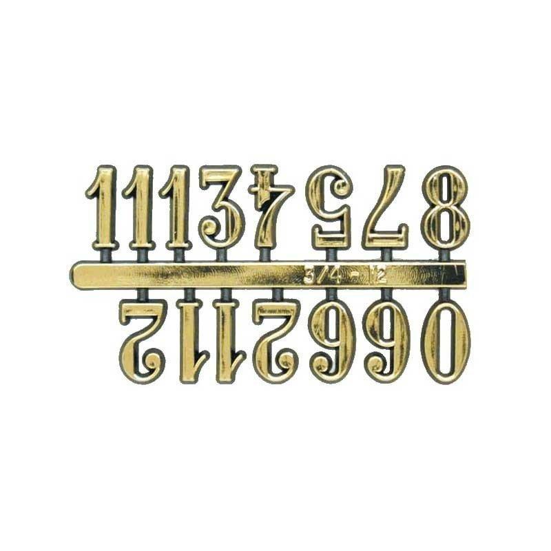 Números adhesivos para reloj grandes 1,5 cm.