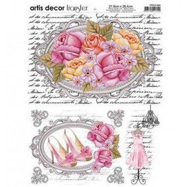 Papel transfer Romance Artis Decor, 28,4  x 21,8 cm.