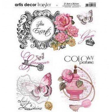 Papel transfer Perfume Artis Decor, 28,4  x 21,8 cm.