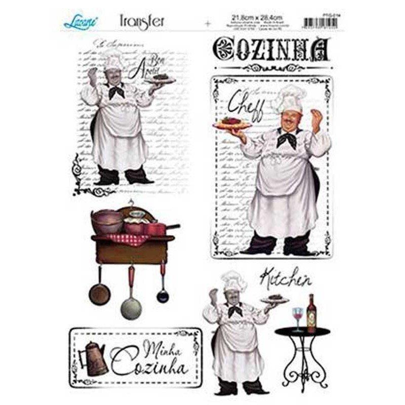 Papel transfer Cocinero Artis Decor, 28,4  x 21,8 cm.