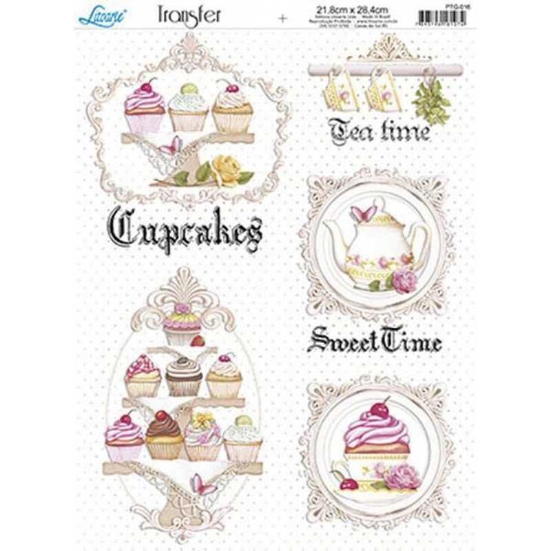 Papel transfer Tea Time Artis Decor, 28,4  x 21,8 cm.