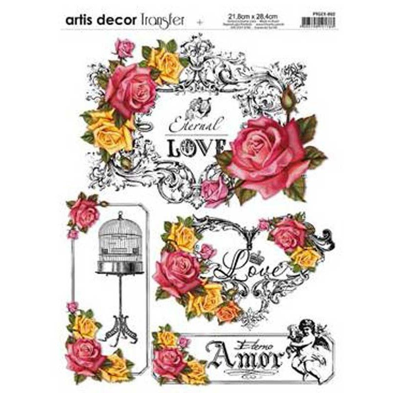 Papel transfer Love Artis Decor, 28,4  x 21,8 cm.