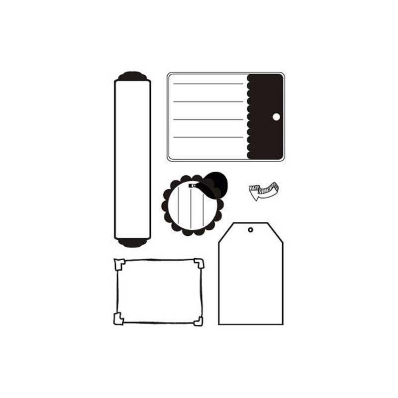 Sellos silicona flexibles A6, Artis Decor, Etiquetas 2.