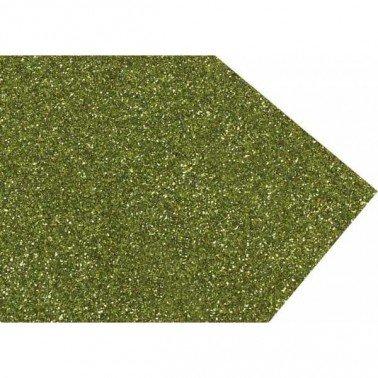Goma eva purpurina verde lima
