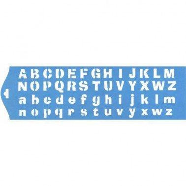 Stencil ABC 28,5 x 8,4 cm.