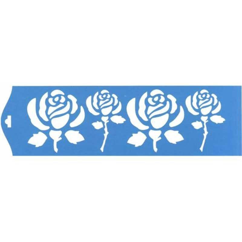 Stencil Rosas 28,5 x 8,4 cm.