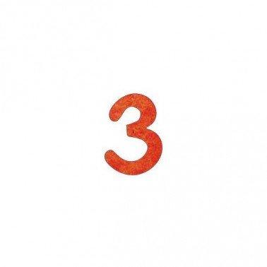 Siluetas DM número 3, 2,5 cm.