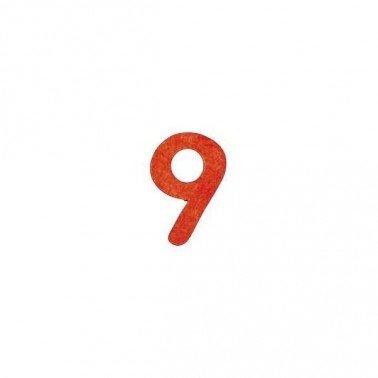 Siluetas DM número 9, 2,5 cm.