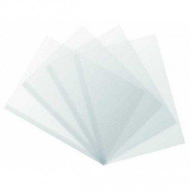 Lamina de acetato transparente A4, 297 X 210 mm, 180 micras.