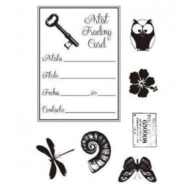 Sellos silicona flexibles A6, Artis Decor, Artist Card 1.