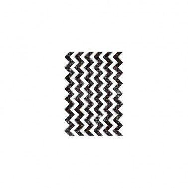 Sellos silicona flexibles A7, Artis Decor, Trama Chevron. 7,4 x 10,5 cm.