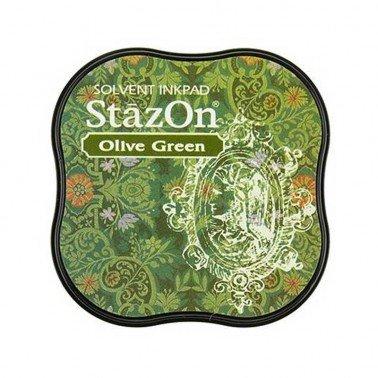 StazOn midi tampón Olive Green.