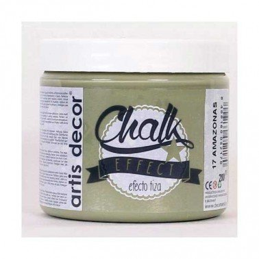 Pintura Chalk Effect Amazonas Artis Decor tipo tiza, 200 ml.