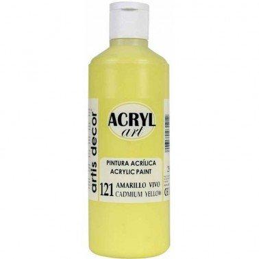 Pintura acrílica AMARILLO VIVO ACRYL ART 250 ml.