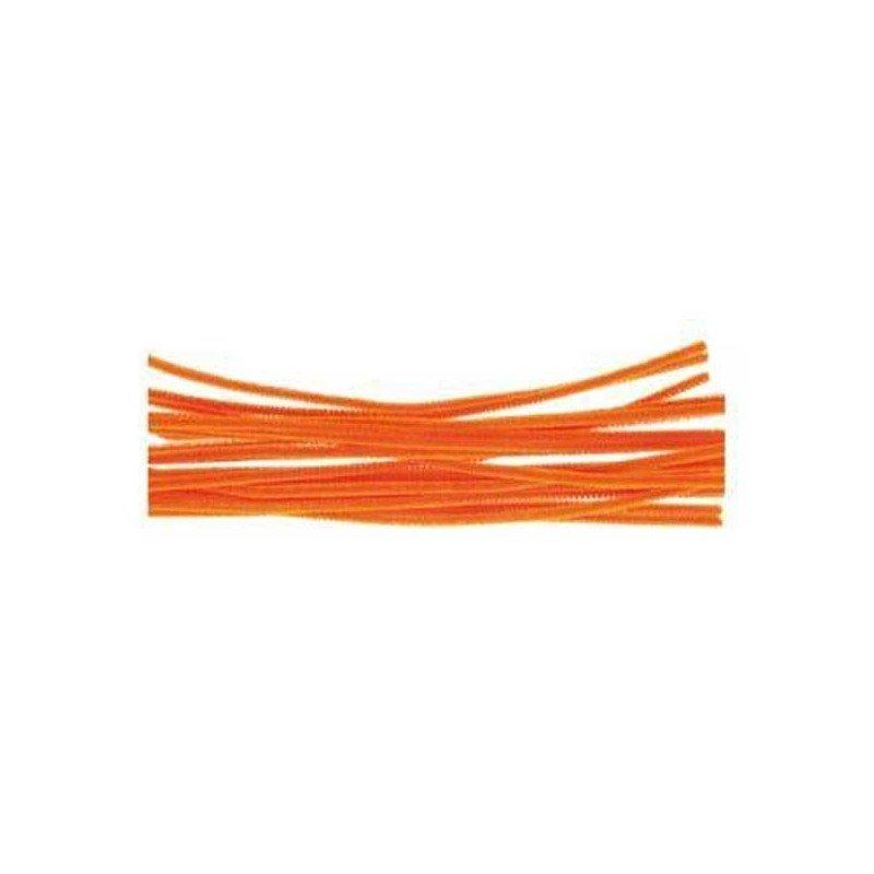 Limpiapipas - Chenilla naranja barrilito.