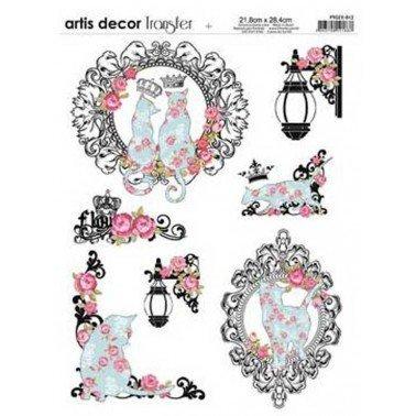 Papel transfer ROSE Artis Decor, 28,4  x 21,8 cm.