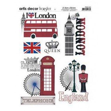 Papel transfer LONDRES Artis Decor, 28,4  x 21,8 cm.