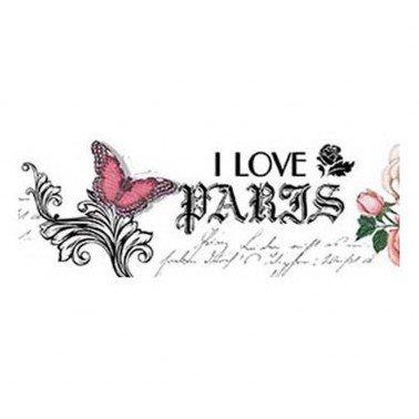 Papel transfer I LOVE PARIS Artis Decor, 43,6 x 4 cm.