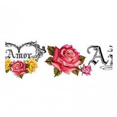 Papel transfer AMOR Artis Decor, 43,6 x 4 cm.