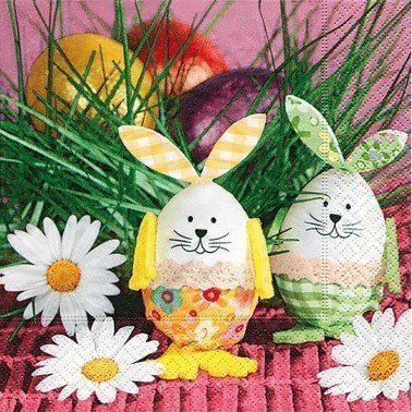 Servilletas para decoupage Bunny Eggs 33 X 33 cm.